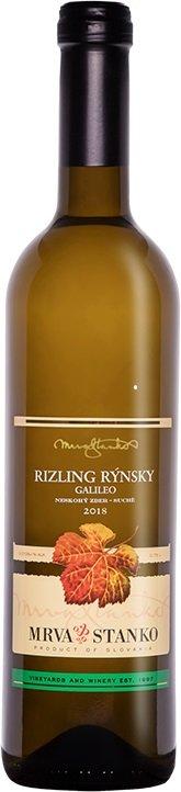 Mrva & Stanko Rizling rýnsky Galileo, Častkovce 0,75L, r2018, nz, bl, su