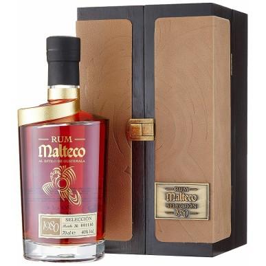 Malteco Selección 40% v drevenom boxe 0,7L, r1980, rum, DB