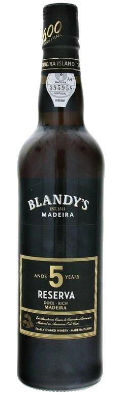 Blandy's Madeira Reserva 5 Y.O. Doce Rich 0,5L, fortvin, bl, sl
