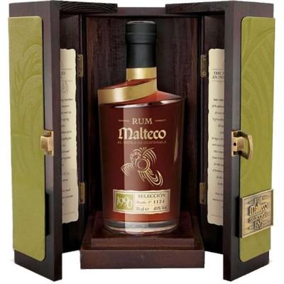 Malteco Selección 40% v drevenom boxe 0,7L, r1990, rum, DB