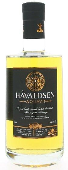 Havaldsen Triple cask  Aquavit 40% 0,7L, aqua
