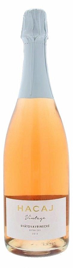 Hacaj Vintage Svätovavrinecké Rosé 0,75L, r2016, skt trm, ruz, exdry
