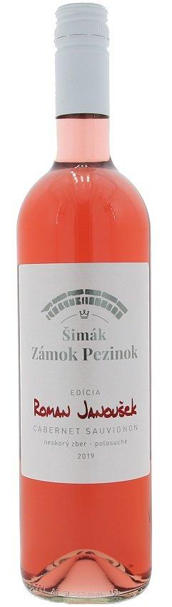 Šimák Zámok Pezinok Edícia Roman Janoušek Cabernet Sauvignon 0,75L, r2019, nz, ruz, plsu