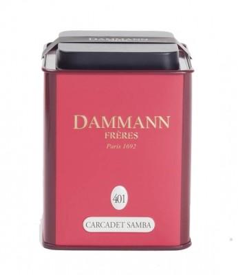 Dammann Fréres La Boite Carcadet Samba, N°401, 100 g,  6392,ovocaj, plech