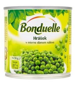 Bonduelle Hrášok jemný v mierne slanom náleve 400 g,ko