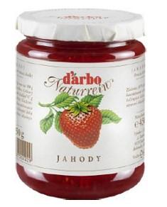 D´arbo Jahodový džem 450 g,sklo pohár