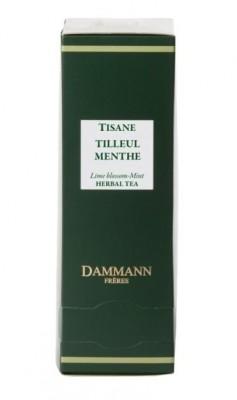 Dammann Fréres Sachets Tilleul Menthe, lipa - mäta 24 x 2 g, 8050,bylcaj, krsac HB