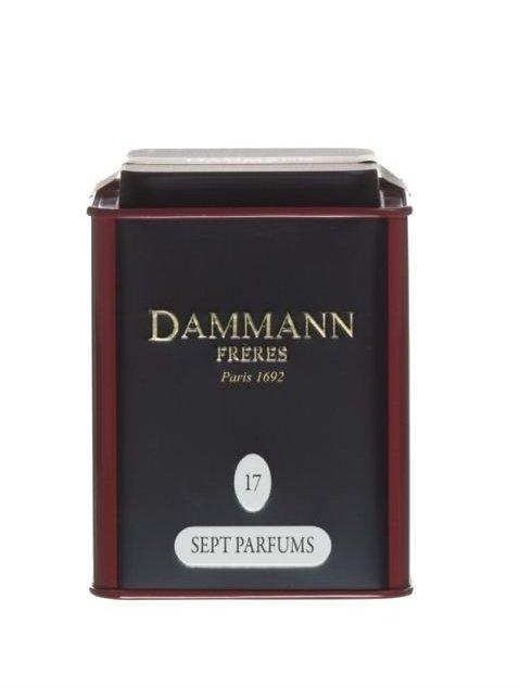 Dammann Fréres La Boite 7 Parfums, N°17, ochutený, 100 g,  6762,ciercaj, plech