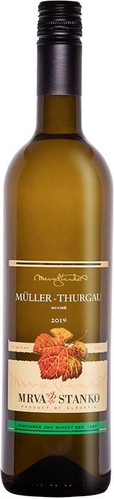 Mrva & Stanko Müller Thurgau, Mojmírovce 0,75L, r2019, vin, bl, su, sc