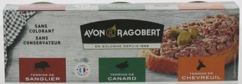 Avon & Ragobert Poľovnícke trio, 3 teriny x 75 g,sklo pohár