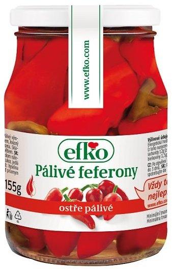 Efko Pálivé feferóny 370 ml,sklo pohár