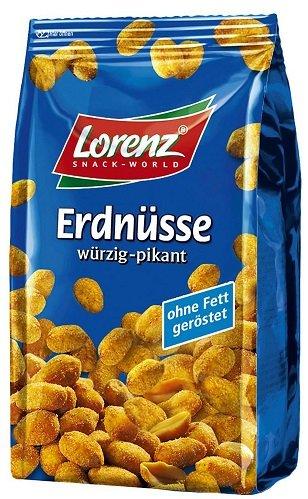 Lorenz Erdnusse Arašídy wurzig pikant 150g
