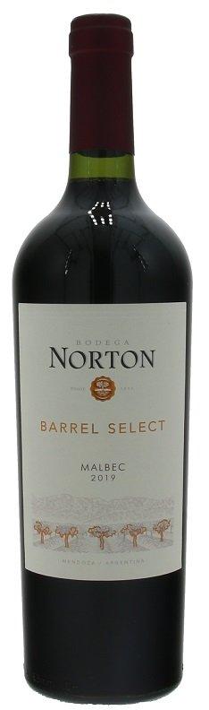 Norton Barrel Select Malbec 0,75L, r2019, cr, su