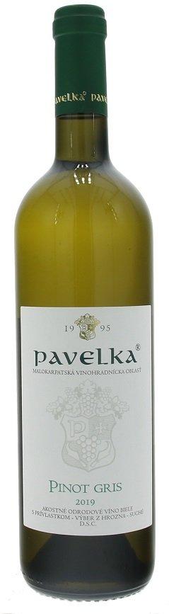 Pavelka Pinot Gris 0,75L, r2019, vzh, bl, su