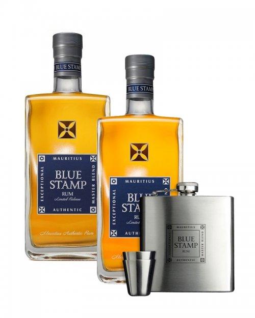 2 x Blue Stamp 42% 0,7L, rum + ploskačka zadarmo