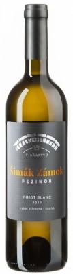 Šimák Zámok Pezinok Edícia Roman Janoušek Pinot Blanc 0,75L, r2019, vzh, bl, su