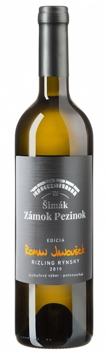 Šimák Zámok Pezinok Edícia Roman Janoušek Rizling rýnsky 0,75L, r2019, bv, bl, plsu