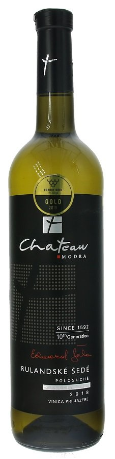 Château Modra Premium Rulandské šedé 0,75L, r2018, nz, bl, plsu