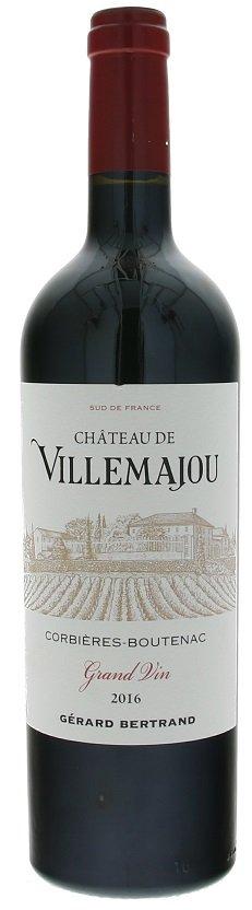 Gérard Bertrand Château de Villemajou, Corbieres Boutenac 0,75L, AOC, r2016, cr, su