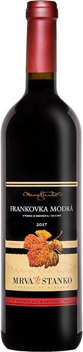 Mrva & Stanko Frankovka modrá, Dolné Orešany 0,75L, r2017, vzh, cr, su