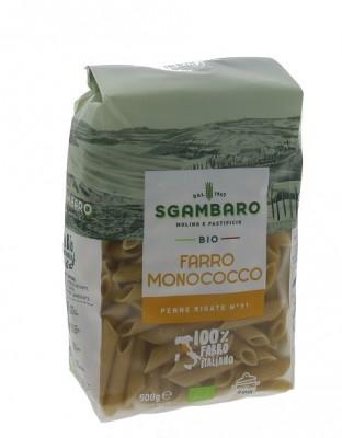 Sgambaro BIO cestoviny 500 g  Farro Monococco Penne rigate N91