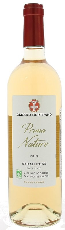 Gérard Bertrand Prima Nature Syrah Rose, BIO 0,75L, IGP, r2019, ruz, su