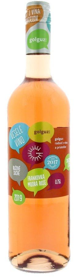Golguz Veselé víno Frankovka modrá rosé 0,75L, r2019, ak, ruz, su, sc