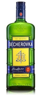 Becherovka Original bylinný likér 38% 1L, liker