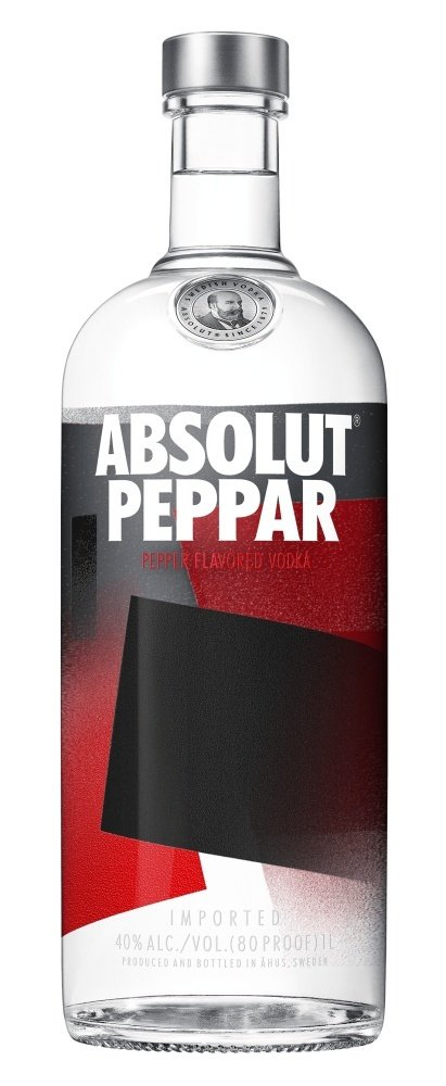 Absolut vodka Peppar 40% 1L, vodka
