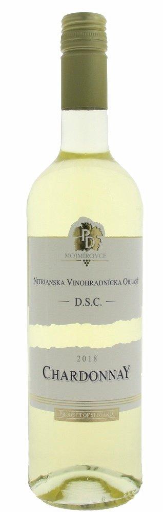 PD Mojmírovce Chardonnay 0,75L, r2018, ak, bl, su