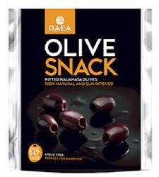 GAEA Olivový snack - čierne olivy Kalamata bez kôstky, 65g,,ochr