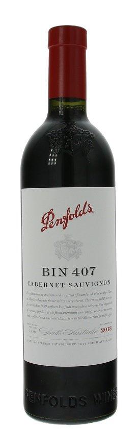 Penfolds BIN 407 Cabernet Sauvignon 0,75L, r2018, cr, su