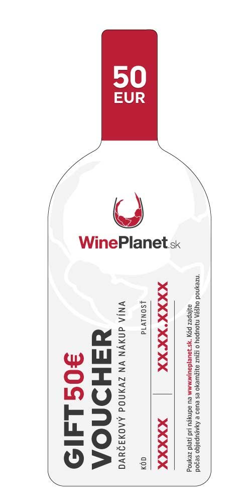Darčeková poukážka Wineplanet 50€