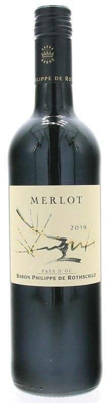 Rothschild Pays d'Oc Varietals Merlot 0,75L, IGP, r2019, vin, cr, su