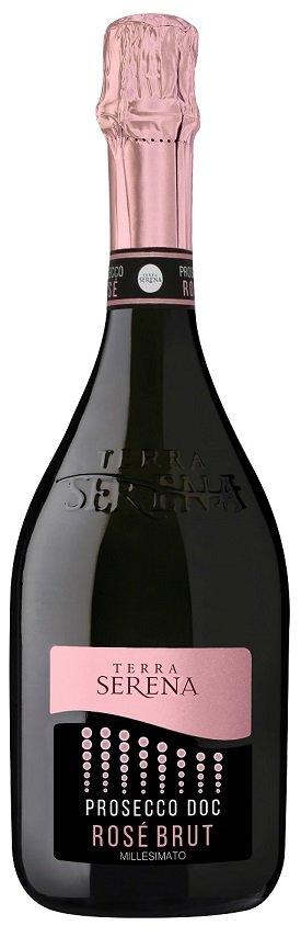 Terra Serena Prosecco Rose Millesimato 0,75L, DOC, r2019, sum, ruz, brut