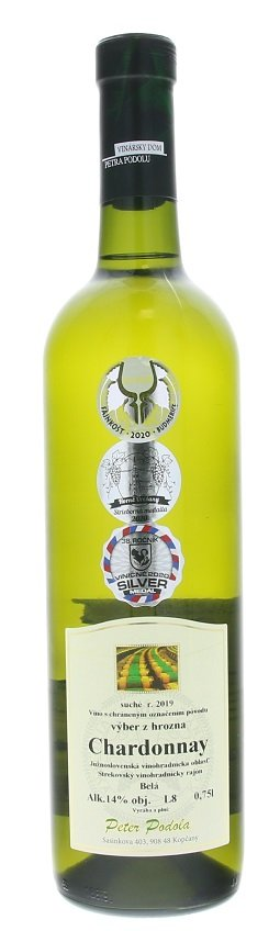 Peter Podola Chardonnay 0,75L, r2019, vzh, su