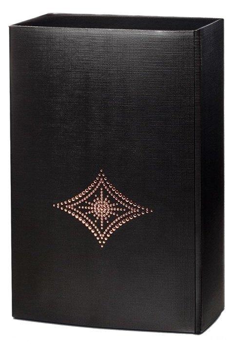 Kristall - čierna darčeková krabica na 2 fľaše, 320x195x100 mm