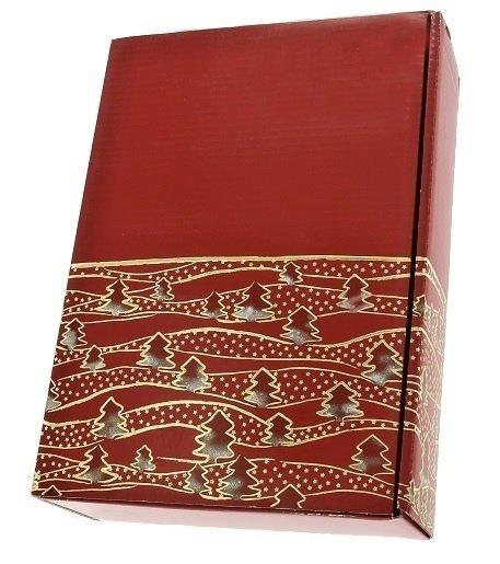 Winterwald červená darčeková krabica na 3 fľaše, 360x250x95 mm