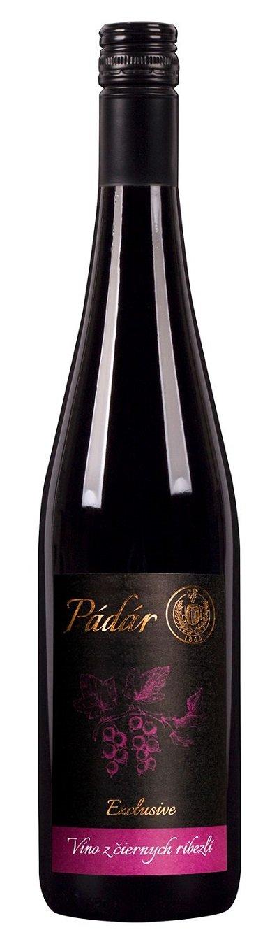 Pádár Víno z čiernych ríbezlí Exlusive - ríbezľové víno 0,75L, r2020, ovvin, cr, sl, sc