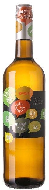 Golguz Veselé víno Veltlínske zelené 0,75L, r2019, ak, bl, su, sc
