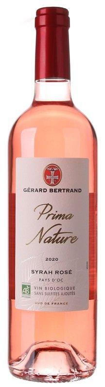 Gérard Bertrand Prima Nature Syrah Rose, BIO 0,75L, IGP, r2020, ruz, su