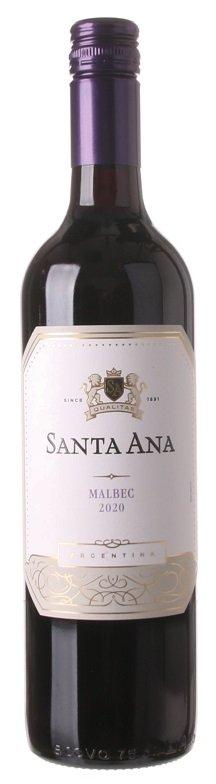 Santa Ana Malbec 0,75L, r2020, cr, su, sc