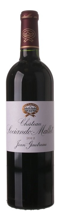 Bordeaux Château Sociando - Mallet 0,75L, AOC, r2012, cr, su