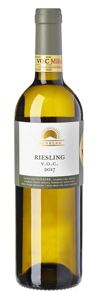 Sonberk Riesling V.O.C. 0,75L, r2017, bl, su