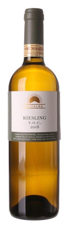 Sonberk Riesling V.O.C. 0,75L, r2018, bl, su
