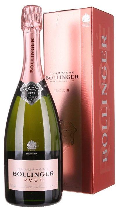 Champagne Bollinger Rosé Brut 0,75L, AOC, sam, ruz, brut, DB