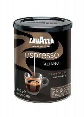 Lavazza Retail Espresso Classico 100 % Arabica, 250g,ml, plech