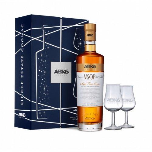 ABK6 Cognac VSOP s 2 pohármi 40% 0,7L, cognac, DB