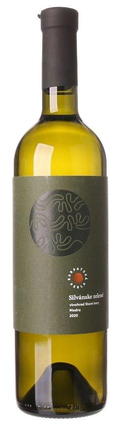 Karpatská Perla Silvánske zelené 0,75L, r2020, vin, bl, su