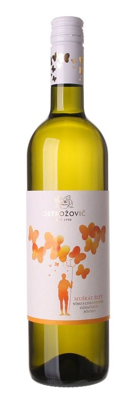 J&J Ostrožovič Muškát žltý 0,75L, r2020, ak, bl, plsu, sc